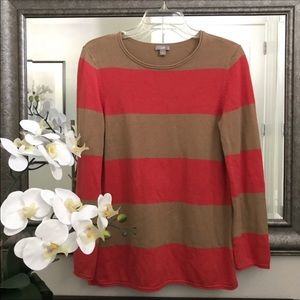 J.Jill Striped Sweater small